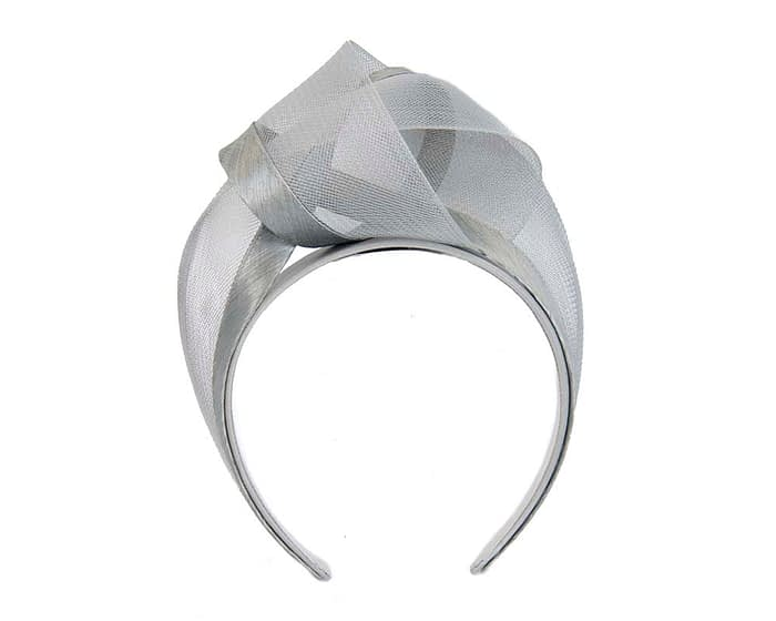Fascinators Online - Silver turban headband by Fillies Collection 2