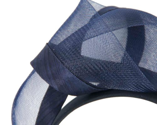 Fascinators Online - Navy turban headband by Fillies Collection 3