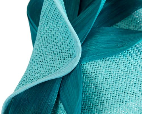 Fascinators Online - Turquoise fascinator with bow by Fillies Collection 5