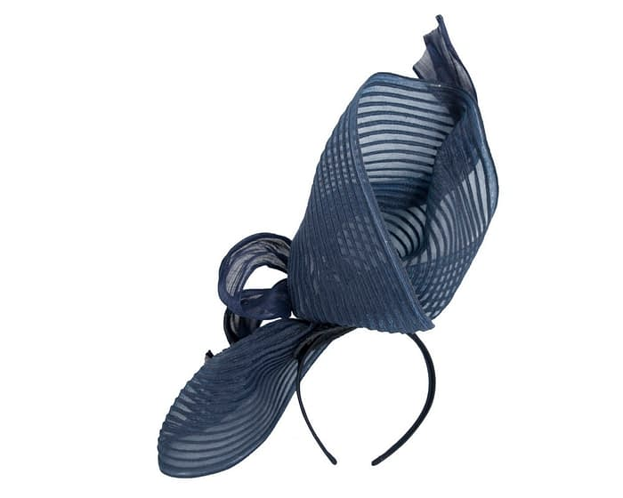 Fascinators Online - Tall Australian Made navy racing fascinator by Fillies Collection 4