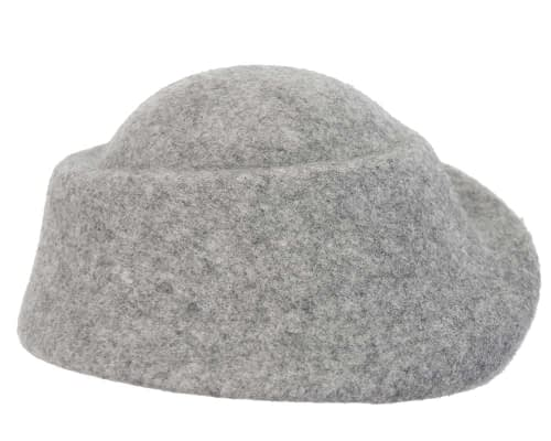 Fascinators Online - Designers grey marle felt hat 5