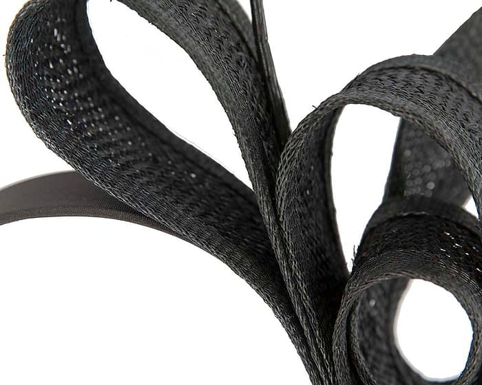 Fascinators Online - Black Australian Made bow fascinator 3