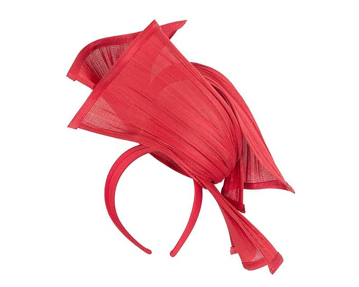 Fascinators Online - Twisted red jinsin racing fascinator by Fillies Collection 4