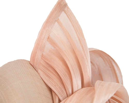 Fascinators Online - Nude pillbox fascinator with silk bow by Fillies Collection 3