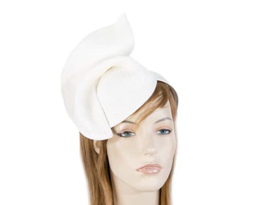Fascinators Online - White twisted fascinator by Max Alexander 3