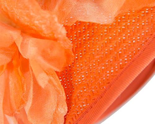 Fascinators Online - Bespoke large orange flower fascinator by Fillies Collection 4