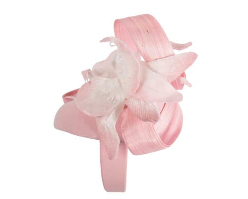 Fascinators Online - Tall pink felt pillbox with flower by Fillies Collection 3