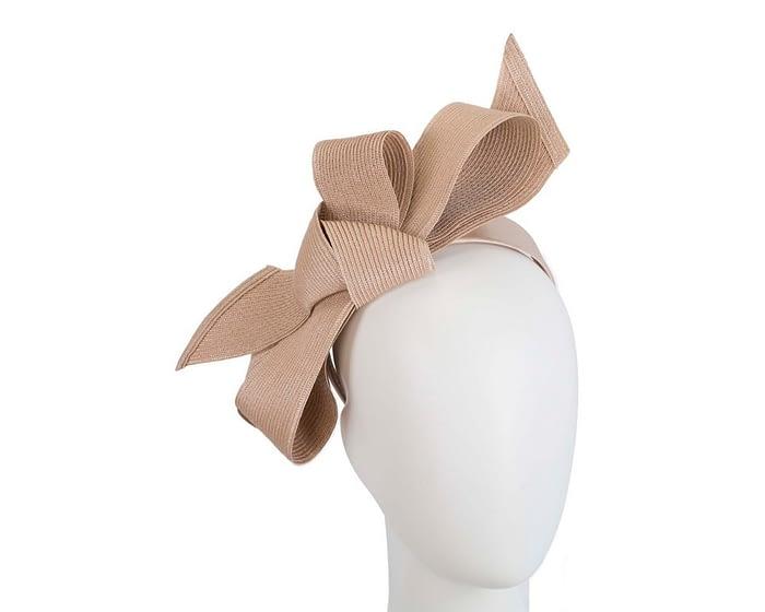 Fascinators Online - Large nude bow fascinator by Max Alexander 1