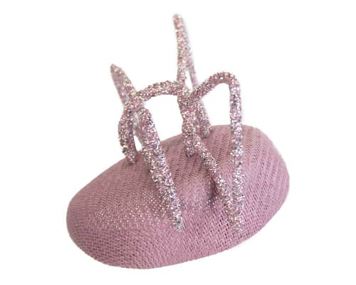 Fascinators Online - Bespoke lilac pillbox with bow by Fillies Collection 2