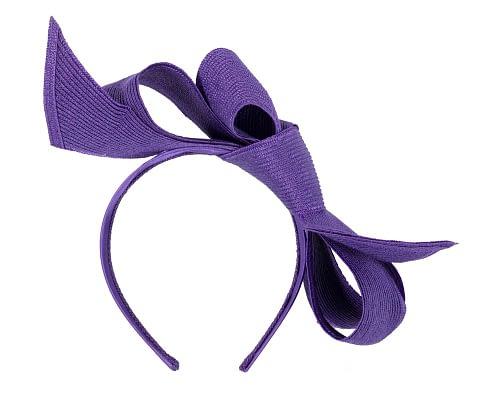 Fascinators Online - Large purple bow fascinator by Max Alexander 4