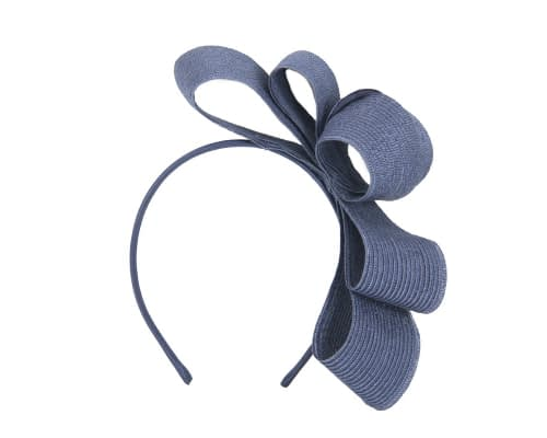 Fascinators Online - Large navy bow racing fascinator by Max Alexander 2