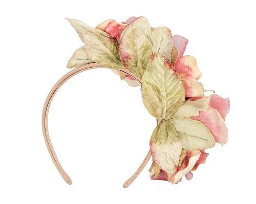 Fascinators Online - Multi-color pink flower headband by Max Alexander 4