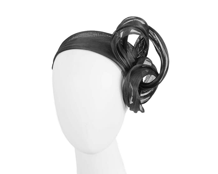 Fascinators Online - Black retro headband fascinator by Fillies Collection 1