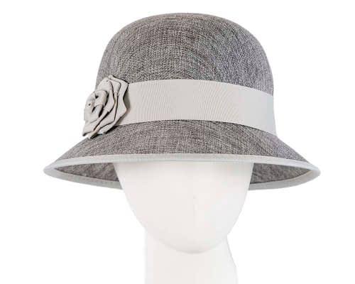 Fascinators Online - Silver spring racing bucket hat by Max Alexander 60