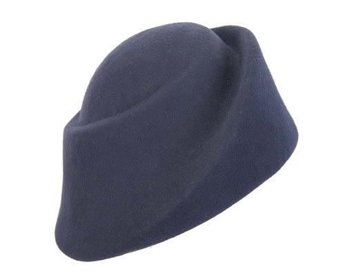 Fascinators Online - Designers navy felt hat 2