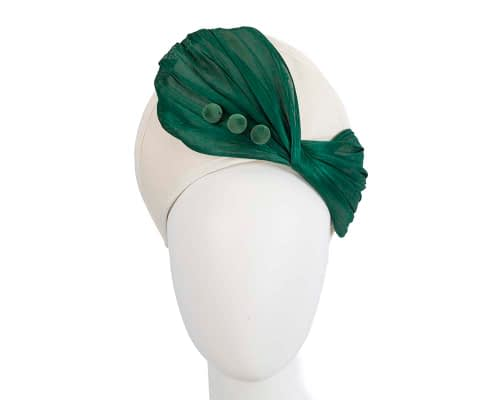 Fascinators Online - Cream & green felt crown fascinator by Fillies Collection 2
