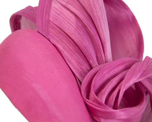 Fascinators Online - Fuchsia pillbox fascinator with silk bow by Fillies Collection 3