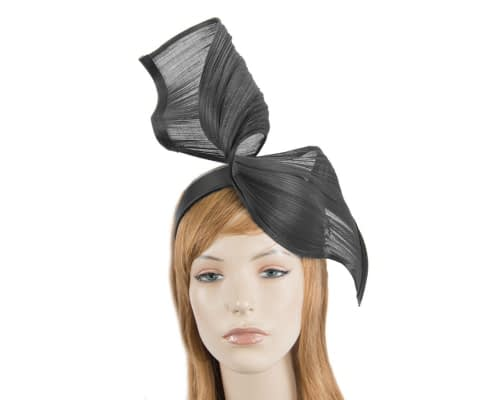Fascinators Online - Black twisted jinsin fascinator by Fillies Collection 1