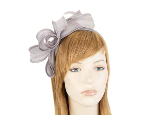 Fascinators Online - Silver organza bow fascinator by Max Alexander 11