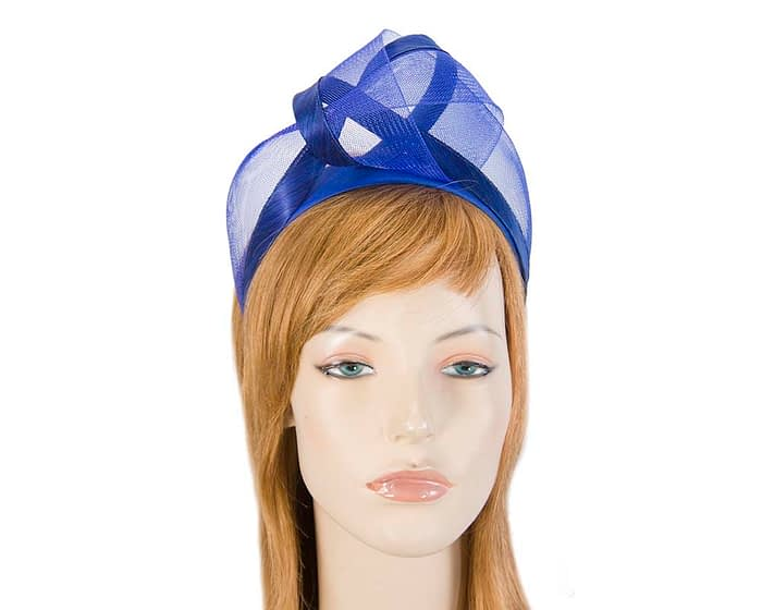 Fascinators Online - Royal blue turban headband by Fillies Collection 1
