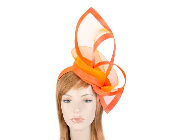 Fascinators Online - Edgy orange fascinator by Fillies Collection 1