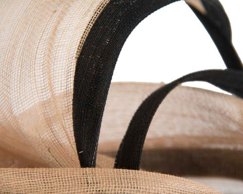 Fascinators Online - Tall black & nude designers fascinator by Fillies Collection 5