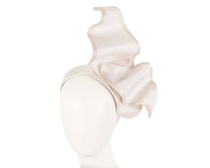 Fascinators Online - Stylish ivory racing fascinator by Max Alexander 1