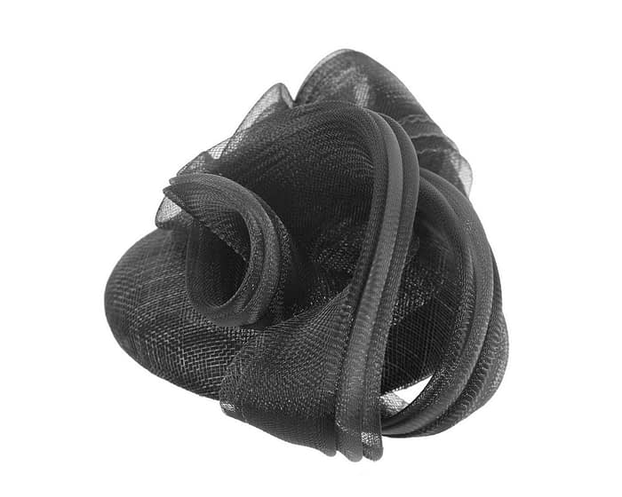 Fascinators Online - Black pillbox racing fascinator with wave by Fillies Collection 3