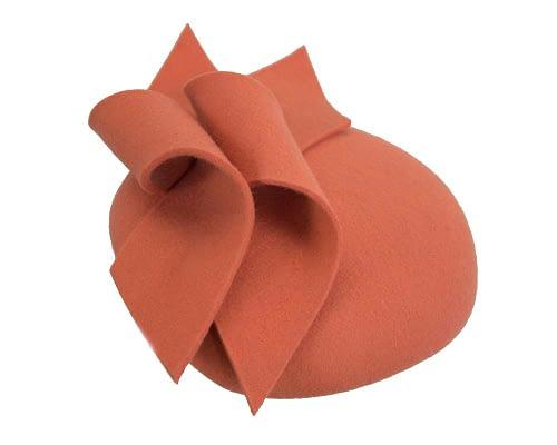 Fascinators Online - Burnt orange felt winter pillbox fascinator by Max Alexander 4