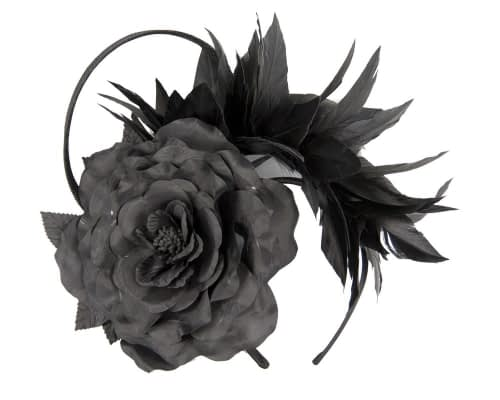 Black racing fascinator by Max Alexander