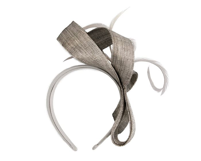 Fascinators Online - Silver loops headband fascinator by Fillies Collection 4