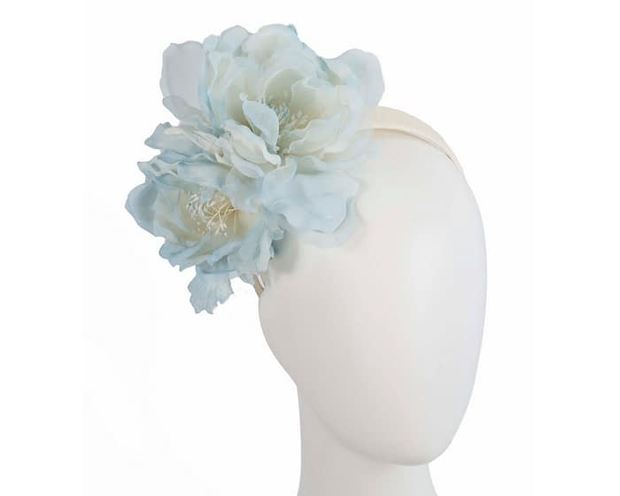 Fascinators Online - Light Blue Silk Flower Fascinator by Fillies Collection 1