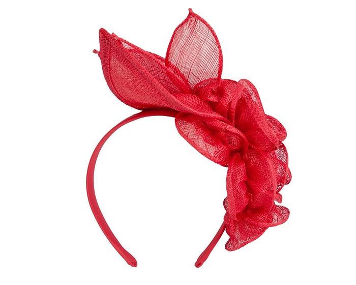 Fascinators Online - Large red flower headband fascinator by Max Alexander 4