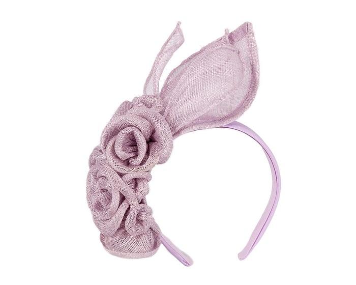 Fascinators Online - Large lilac flower headband fascinator by Max Alexander 2