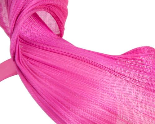 Fascinators Online - Fuchsia twisted jinsin fascinator by Fillies Collection 3