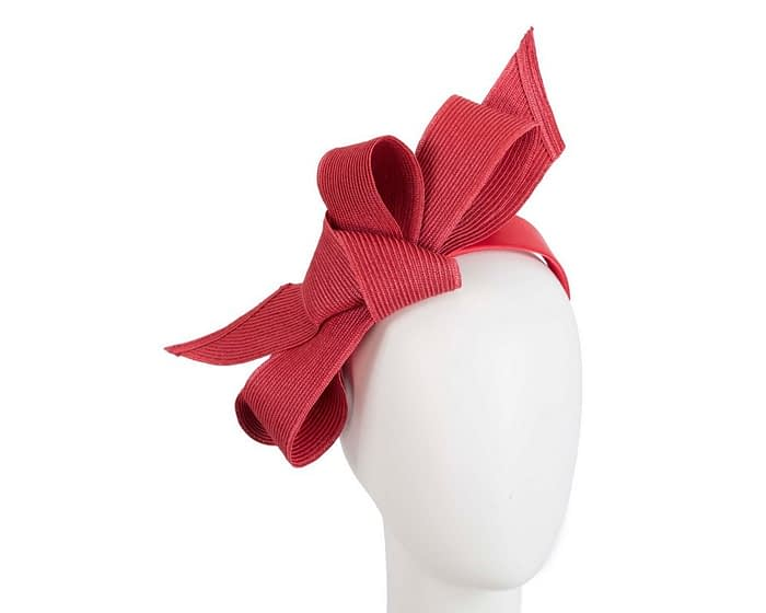 Fascinators Online - Large red bow fascinator by Max Alexander 1