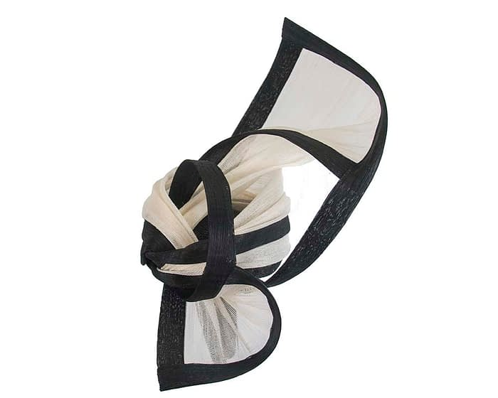 Fascinators Online - Tall black & cream designers fascinator by Fillies Collection 3