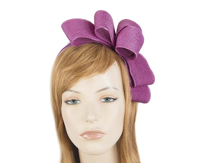 Fascinators Online - Large fuchsia bow racing fascinator by Max Alexander 1