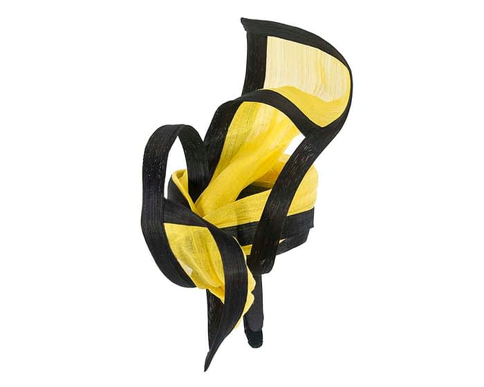 Fascinators Online - Tall black & yellow designers fascinator by Fillies Collection 3