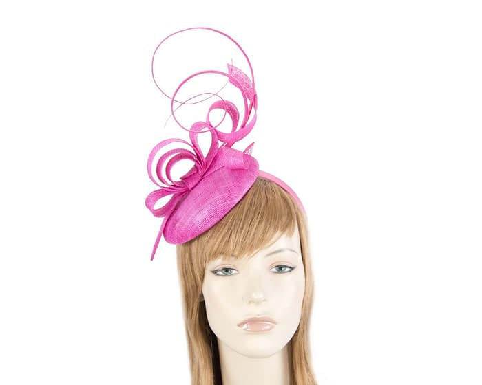 Fascinators Online - Tall fuchsia racing fascinator by Max Alexander 1