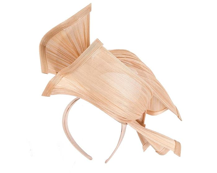 Fascinators Online - Twisted nude jinsin racing fascinator by Fillies Collection 5