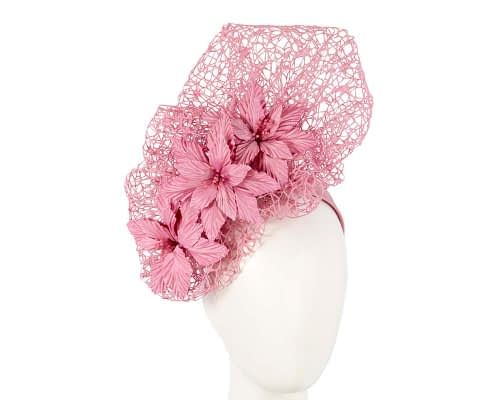 Fascinators Online - Dusty Pink designers racing fascinator by Fillies Collection 4