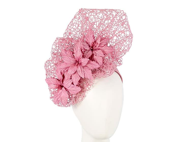 Fascinators Online - Dusty Pink designers racing fascinator by Fillies Collection 1
