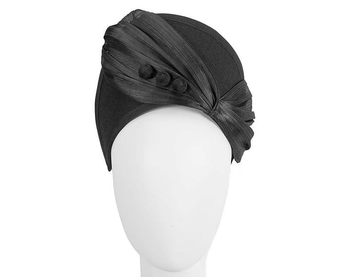Fascinators Online - Black felt crown fascinator by Fillies Collection 1