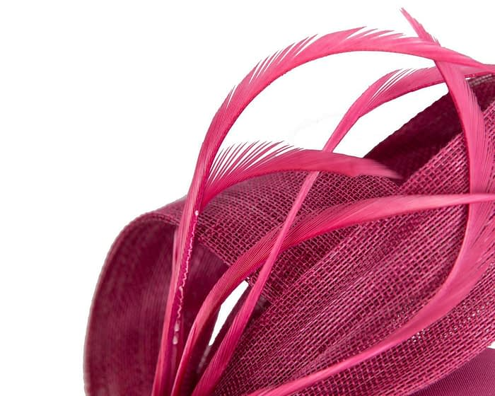 Fascinators Online - Fuchsia loops headband fascinator by Fillies Collection 3