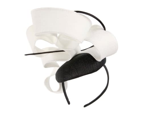 Fascinators Online - Designers black & white racing fascinator by Fillies Collection 3