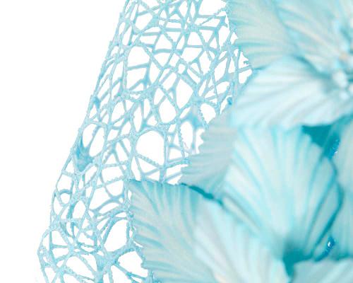 Fascinators Online - Light Blue designers racing fascinator by Fillies Collection 3