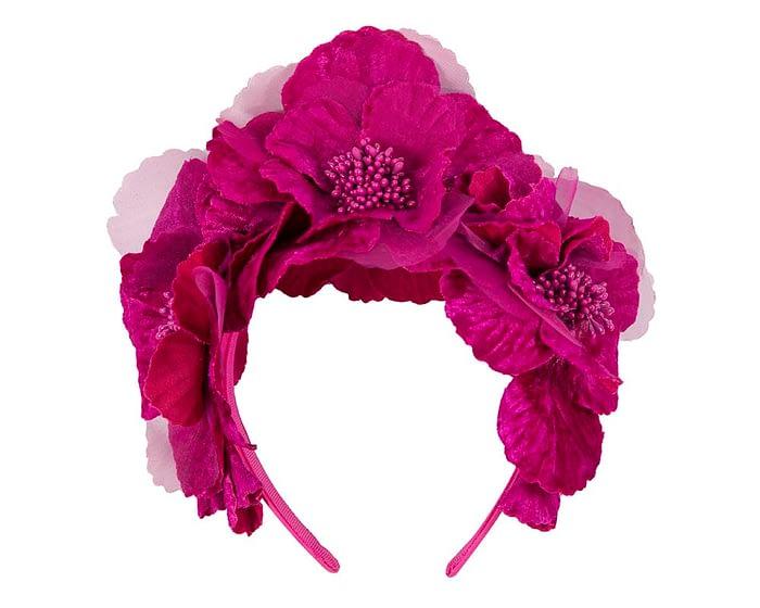 Fascinators Online - Fuchsia flower halo 2