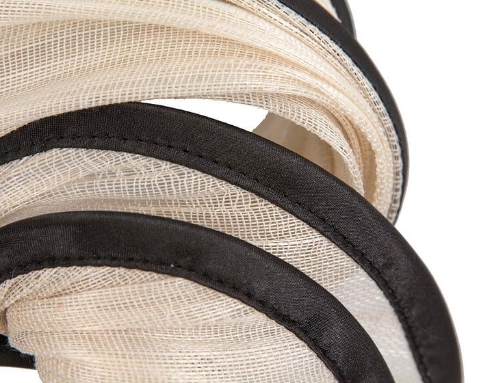 Fascinators Online - Cream & black headband racing fascinator by Fillies Collection 3
