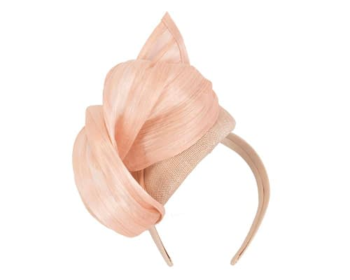 Fascinators Online - Nude pillbox fascinator with silk bow by Fillies Collection 4